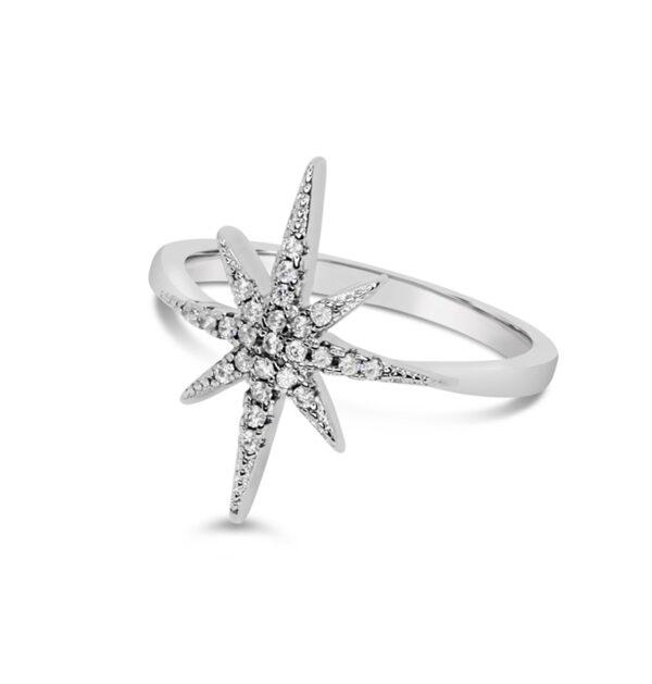 טבעת כוכב מכסף