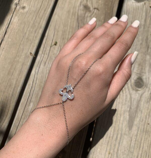 צמיד טבעת כסף רנסנס